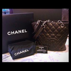 3150da45088d Chanel Caviar Leather PST Dark Espresso Brown